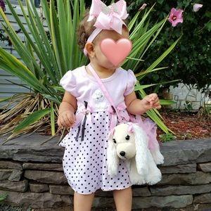 Rare Too! 2pc set Poodle Dress/ leggings